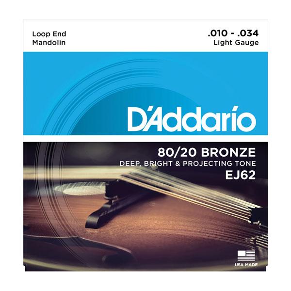 D/'Addario Mandolin Strings Monel Medium Plus 11-41 Loop End